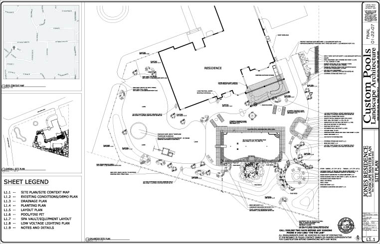 Swimming pool pool design pool construction pool spa for Swimming pool site plan