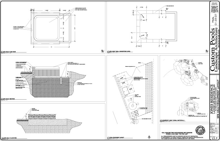 Swimming pool pool design pool construction pool spa boise idaho for Swimming pool equipment layout
